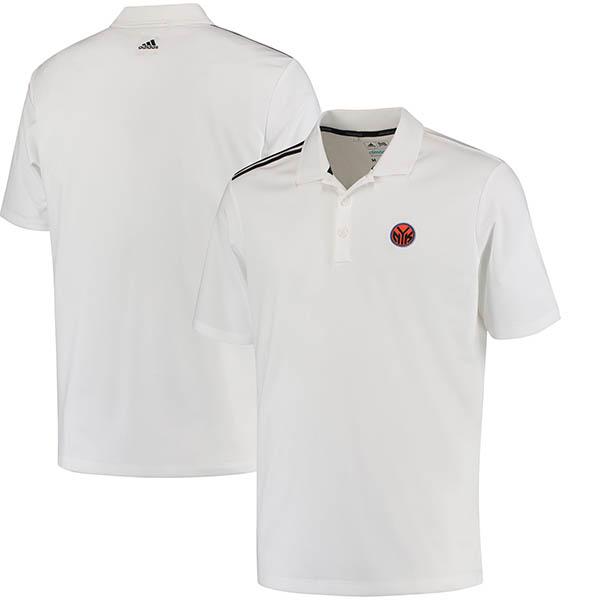 お取り寄せ NBA ニックス 3ストライプ クライマクール ポロシャツ アディダス/Adidas ホワイト