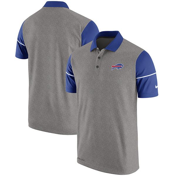 お取り寄せ NFL ビルズ チャンプ ドライブ サイドライン パフォーマンス ポロシャツ ナイキ/Nike ヘザーグレイ