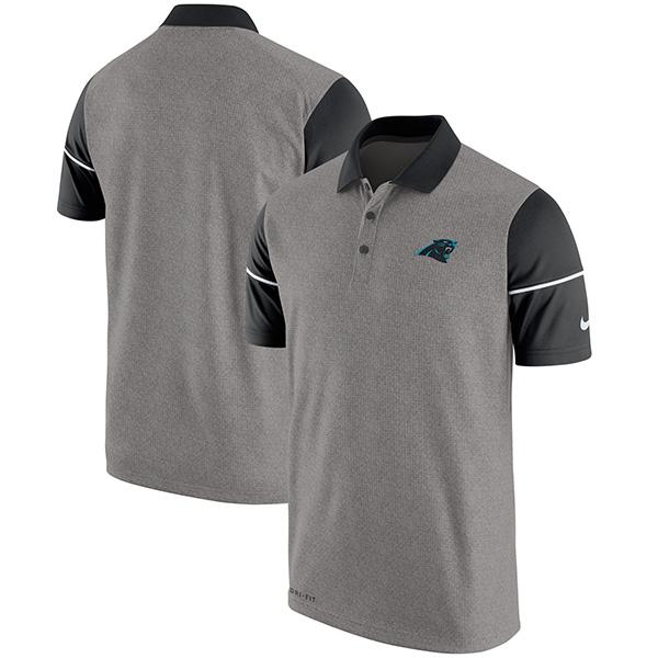お取り寄せ NFL パンサーズ チャンプ ドライブ サイドライン パフォーマンス ポロシャツ ナイキ/Nike ヘザーグレイ