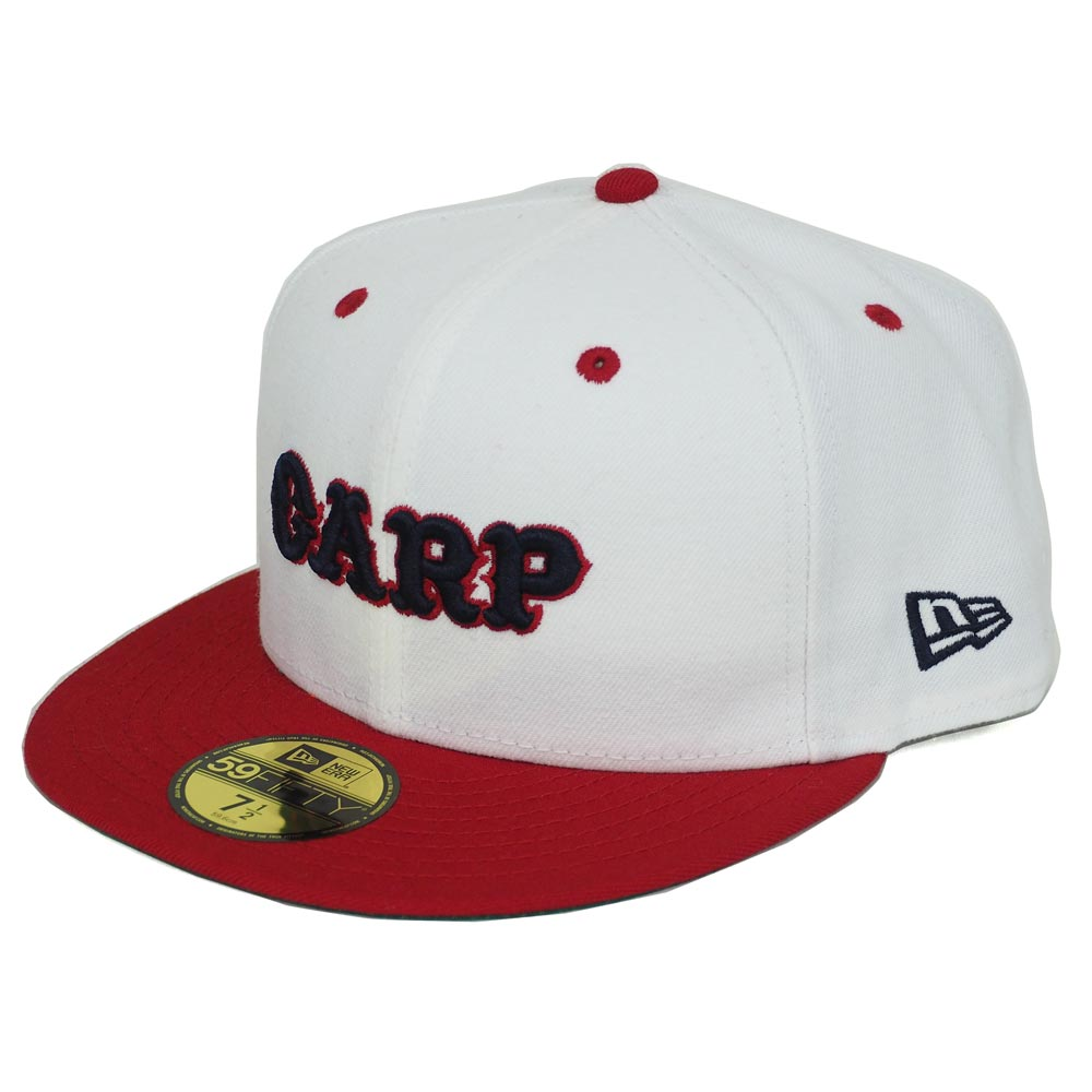 0685f2aa6a0 Hiroshima Carp goods word mark logo custom 59FIFTY cap new gills  New Era  white