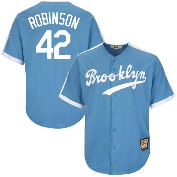 お取り寄せ MLB ドジャース ジャッキー・ロビンソン クールベース クーパーズタウン コレクション ユニフォーム マジェスティック/Majestic ライトブルー