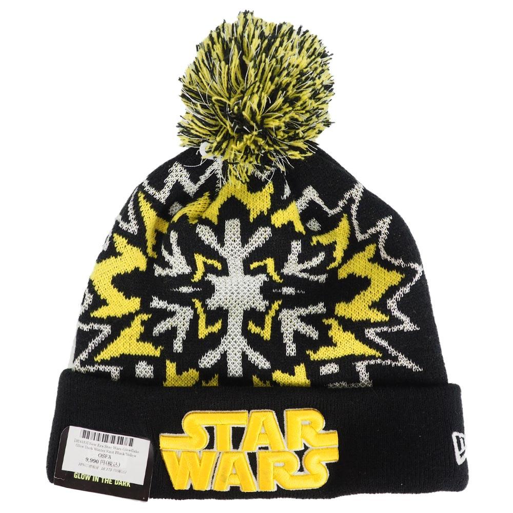 8fdd800f5 New gills /New Era Star Wars glow flake glow dark winter knit cap black