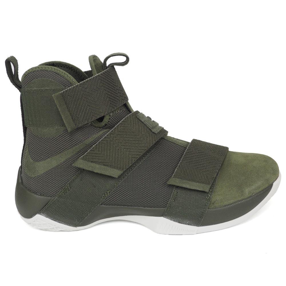 ナイキ レブロン/Nike LeBron ソルジャー 10 SFG Soldier 10 SFG カーゴカーキ バッシュ【1811FOOTセール】