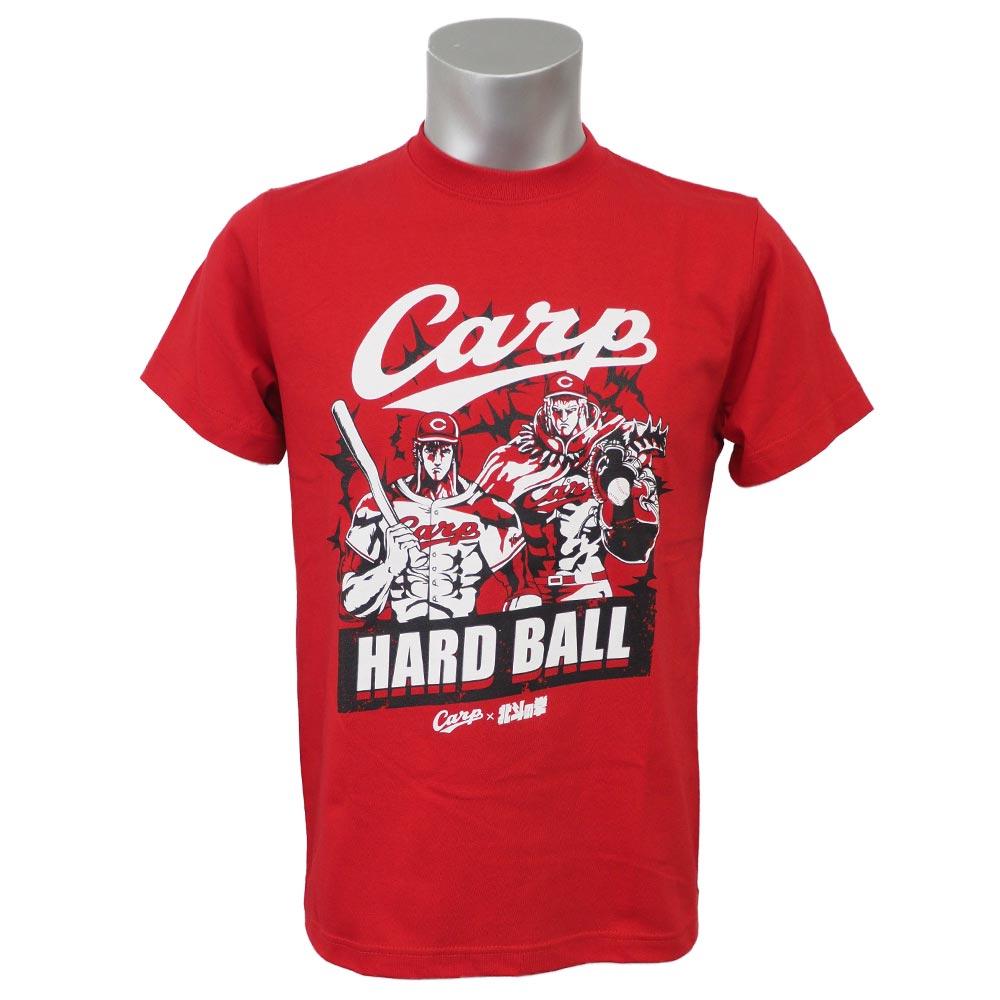 Fist collaboration T-shirt space Eiji /Space Age red of Hiroshima Carp goods Hiroshima Toyo Carp X Hokuto