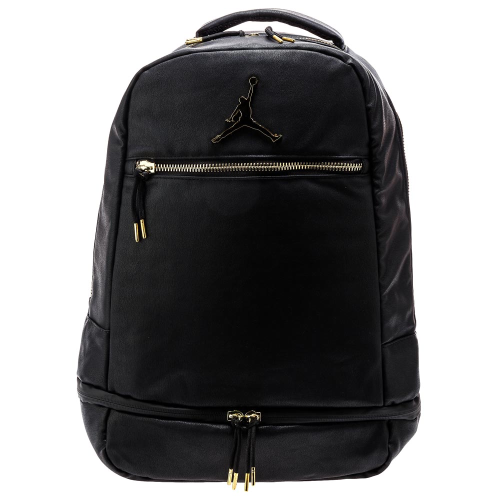 black and gold jordan backpack