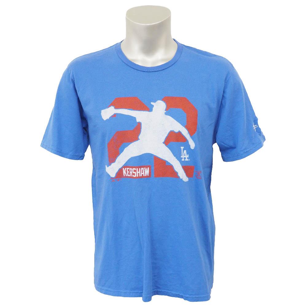 MLB ドジャース クレイトン・カーショー シグネチャー エンブロイダリー シルエット Tシャツ マジェスティック/Majestic ロイヤル