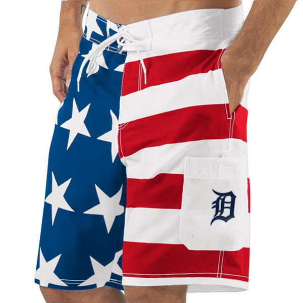お取り寄せ MLB タイガース アメリカーナ スイムトランクス/海水パンツ ジースリー/G-III