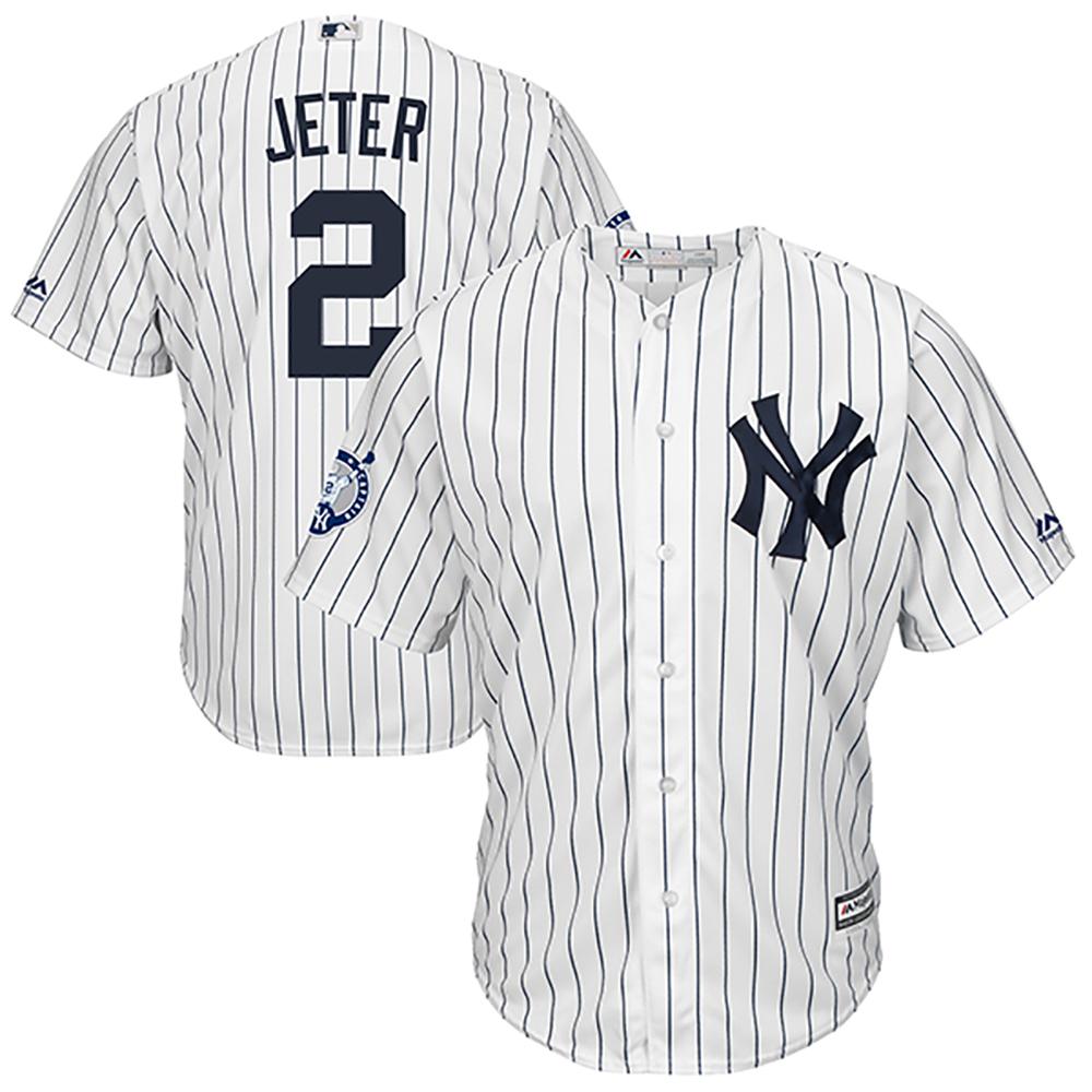 MLB ヤンキース デレク・ジーター ナンバーリタイアメント クールベース ユニフォーム マジェスティック/Majestic ホーム