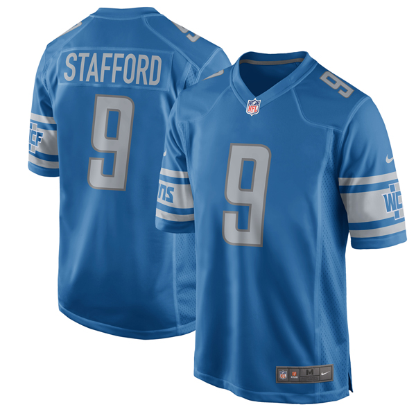 NFL ライオンズ マシュー・スタッフォード 2017 ゲーム ユニフォーム ナイキ/Nike ブルー