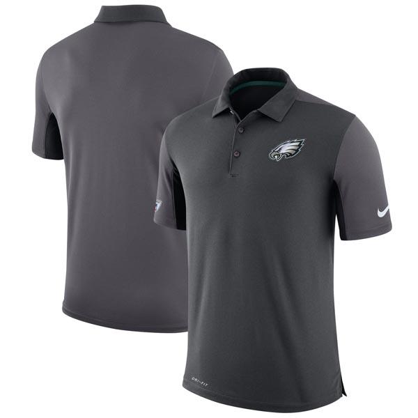 NFL イーグルス チーム イシュー ロゴ パフォーマンス ポロシャツ ナイキ/Nike チャコール
