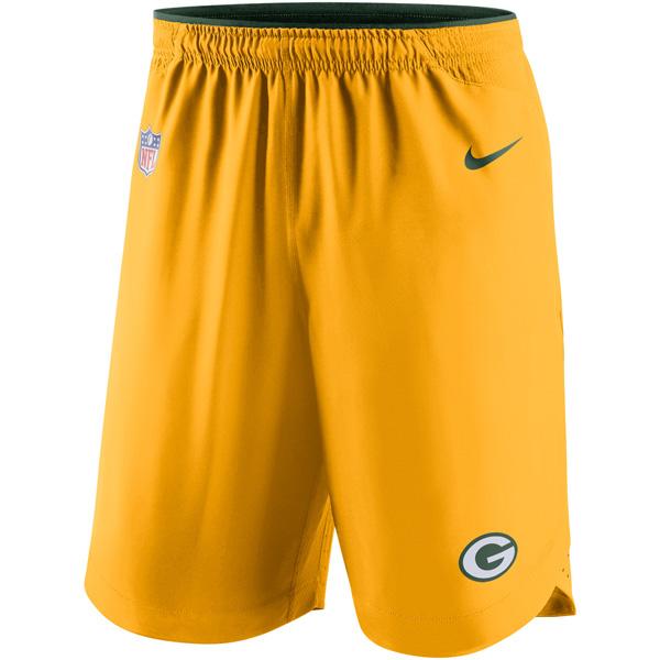 お取り寄せ NFL パッカーズ ヴェイパー パフォーマンス ショーツ ナイキ/Nike ゴールド