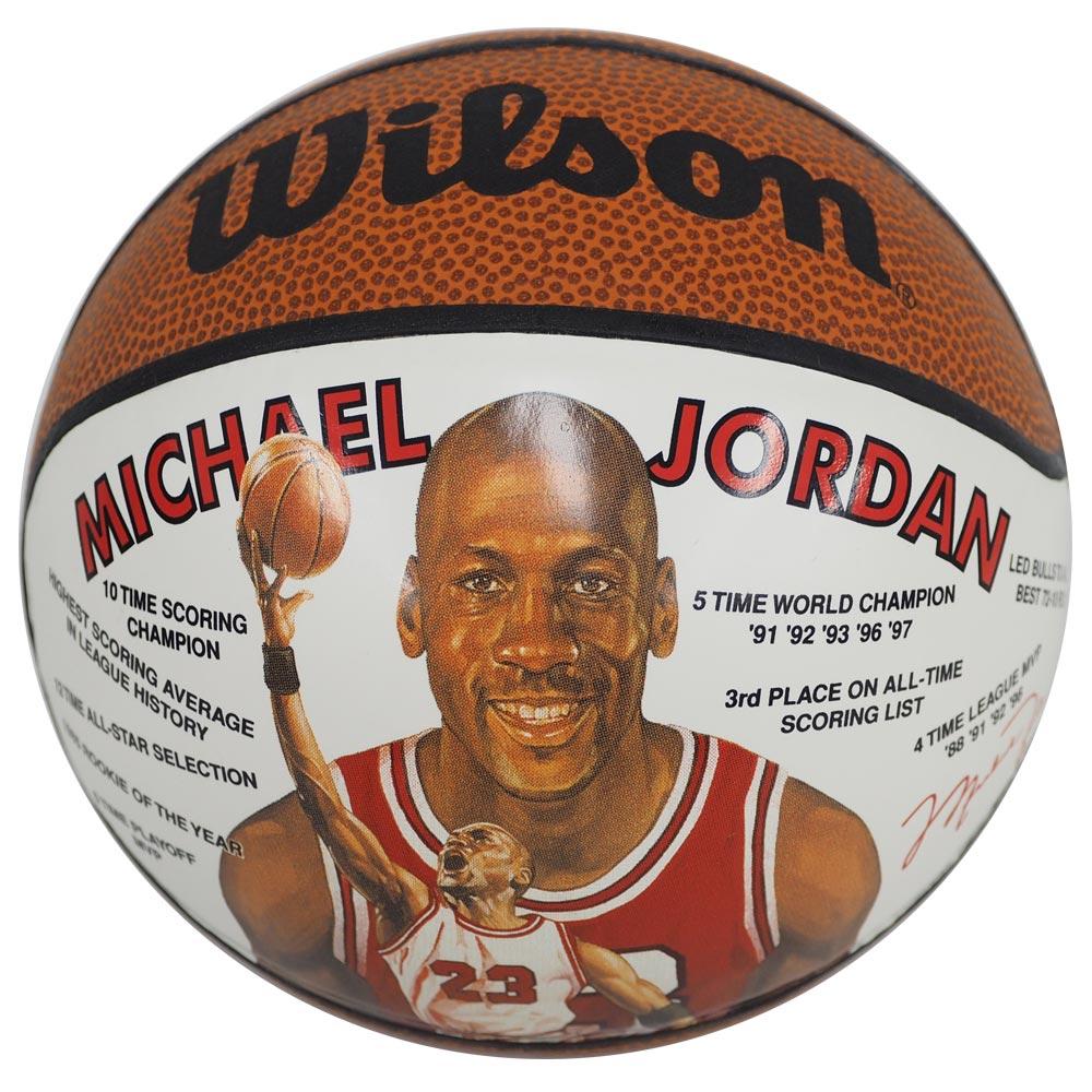 NBA ブルズ マイケル・ジョーダン レコード ミニ バスケットボール ウィルソン/Wilson レアアイテム