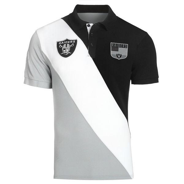 お取り寄せ NFL レイダース ダイアゴナル ストライプ ラガー ポロシャツ フォーエバーコレクタブルズ/Forever Collectibles ヘザーグレイ