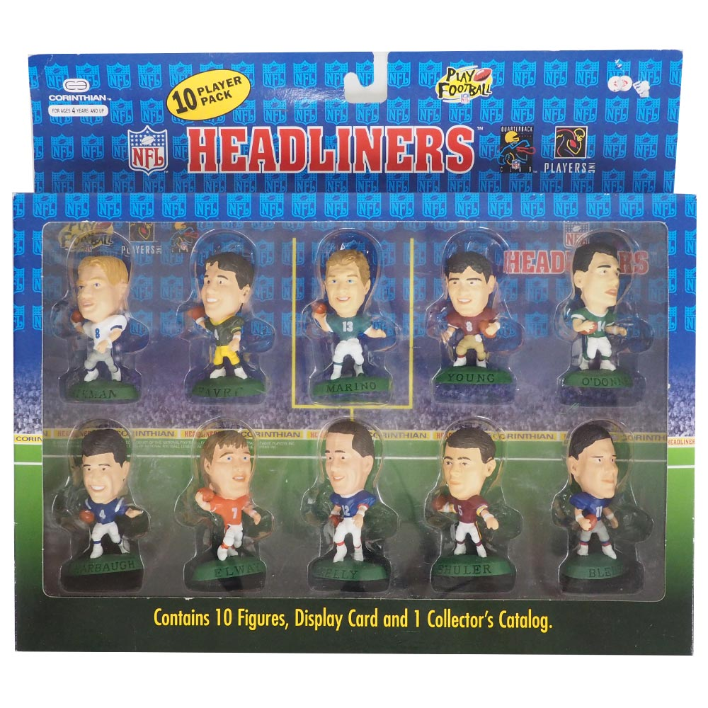 NFL ヘッドライナーズ 1996 エディション NIB フィギュア 10 プレイヤーパック コリンシアン/Corinthian レアアイテム