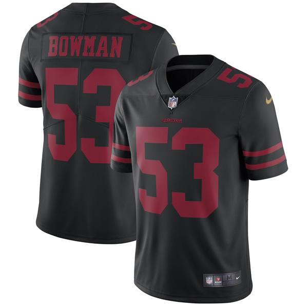 お取り寄せ NFL 49ers ナボーロ・ボウマン ヴェイパー アンタッチャブル リミテッド ユニフォーム ナイキ/Nike ブラック