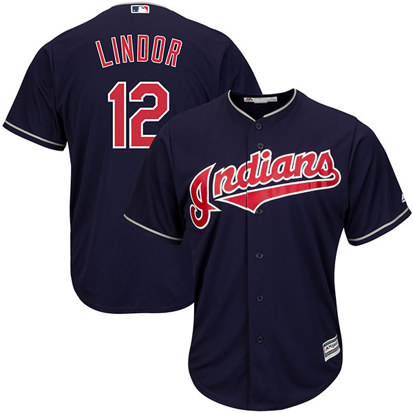 お取り寄せ MLB インディアンス フランシスコ・リンドール クールベース レプリカ ユニフォーム マジェスティック/Majestic オルタネート