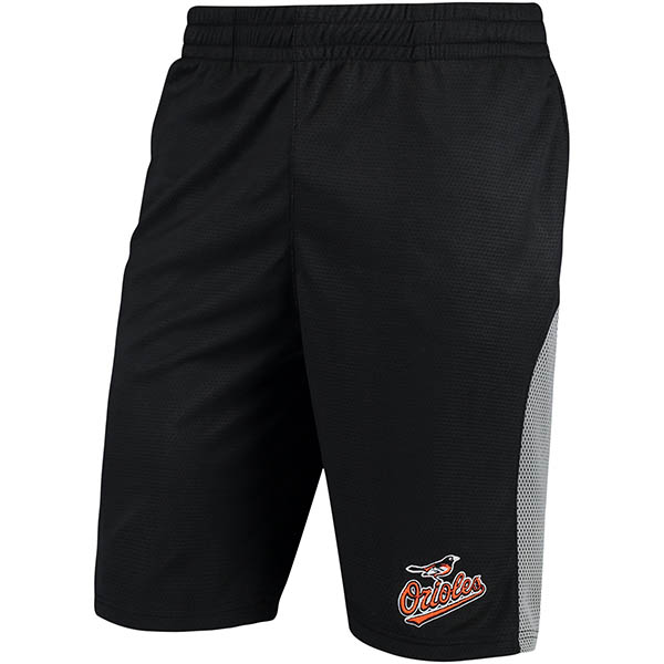 お取り寄せ MLB オリオールズ アスレチック メッシュ ショーツ ステッチズ/Stitches ブラック