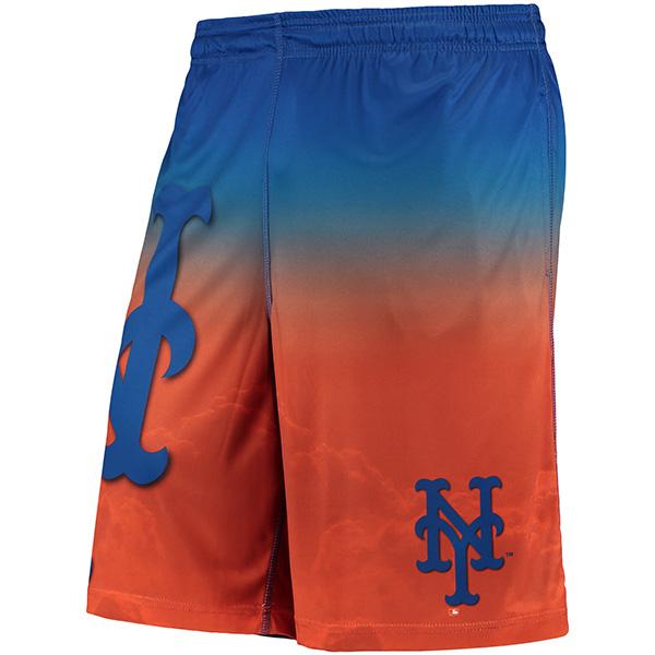 お取り寄せ MLB メッツ グラディエント ビッグ ロゴ トレーニング ショーツ オレンジ