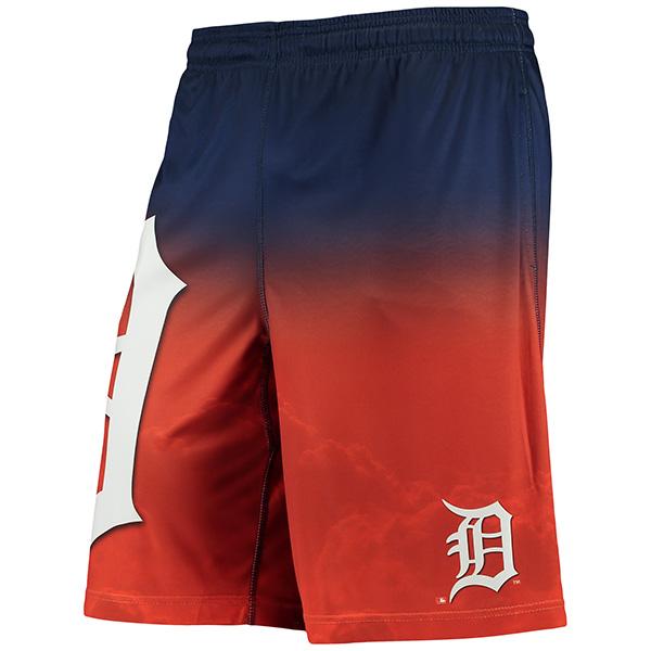 お取り寄せ MLB タイガース グラディエント ビッグ ロゴ トレーニング ショーツ オレンジ