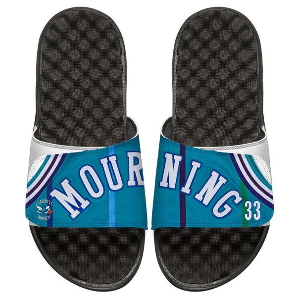 お取り寄せ NBA ホーネッツ アロンゾ・モーニング レトロ ジャージ スライド サンダル アイスライド/ i-slide