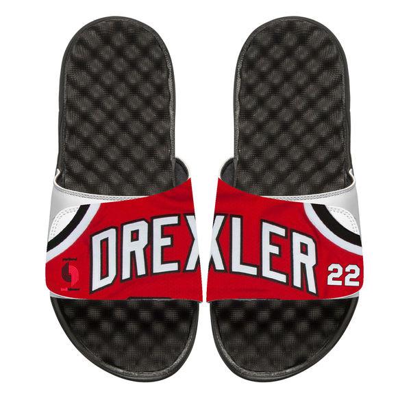 お取り寄せ NBA トレイルブレイザーズ クライド・ドレクスラー レトロ ジャージ スライド サンダル アイスライド/ i-slide