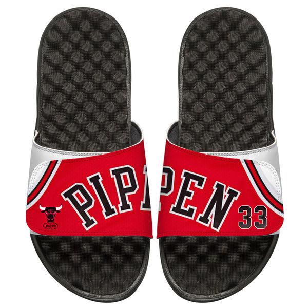 お取り寄せ NBA ブルズ スコッティ・ピッペン レトロ ジャージ スライド サンダル アイスライド/ i-slide