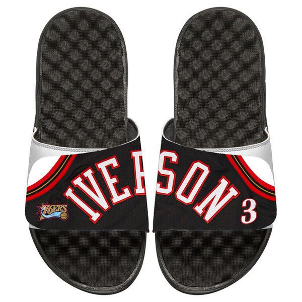 お取り寄せ NBA 76ers アレン・アイバーソン レトロ ジャージ スライド サンダル アイスライド/ i-slide