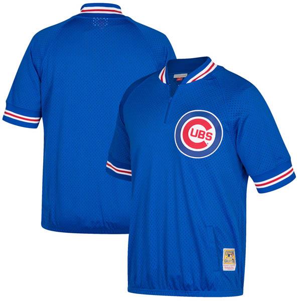 お取り寄せ MLB カブス クーパーズタウン バッティング プラクティス クォータージップ ユニフォーム Mitchell & Ness