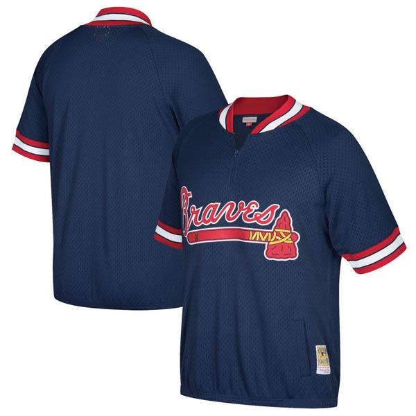 お取り寄せ MLB ブレーブス クーパーズタウン バッティング プラクティス クォータージップ ユニフォーム Mitchell & Ness