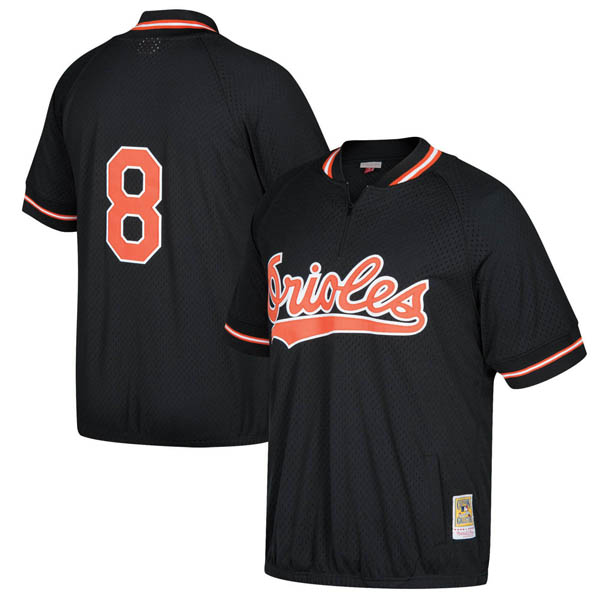 お取り寄せ MLB オリオールズ カル・リプケン クーパーズタウン バッティング プラクティス クォータージップ ユニフォーム Mitchell & Ness