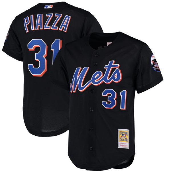 お取り寄せ MLB メッツ マイク・ピアザ クーパーズタウン バッティング プラクティス クォータージップ ユニフォーム Mitchell & Ness