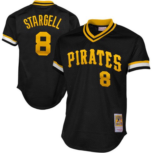 お取り寄せ MLB パイレーツ ウィリー・スタージェル クーパーズタウン バッティング プラクティス クォータージップ ユニフォーム Mitchell & Ness