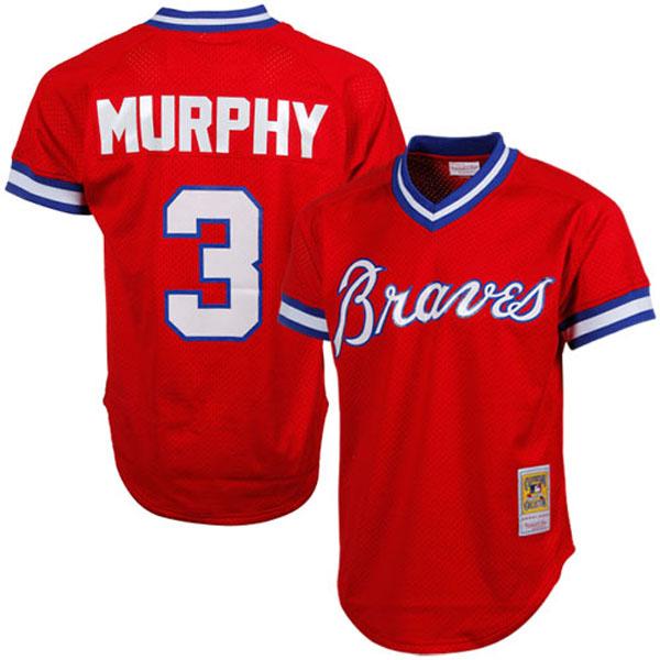 お取り寄せ MLB ブレーブス デール・マーフィー クーパーズタウン バッティング プラクティス クォータージップ ユニフォーム Mitchell & Ness