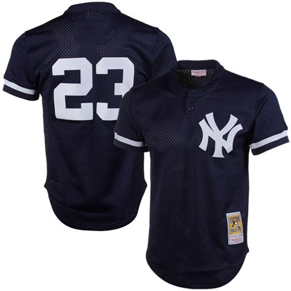 お取り寄せ MLB ヤンキース デール・マーフィー クーパーズタウン バッティング プラクティス クォータージップ ユニフォーム Mitchell & Ness