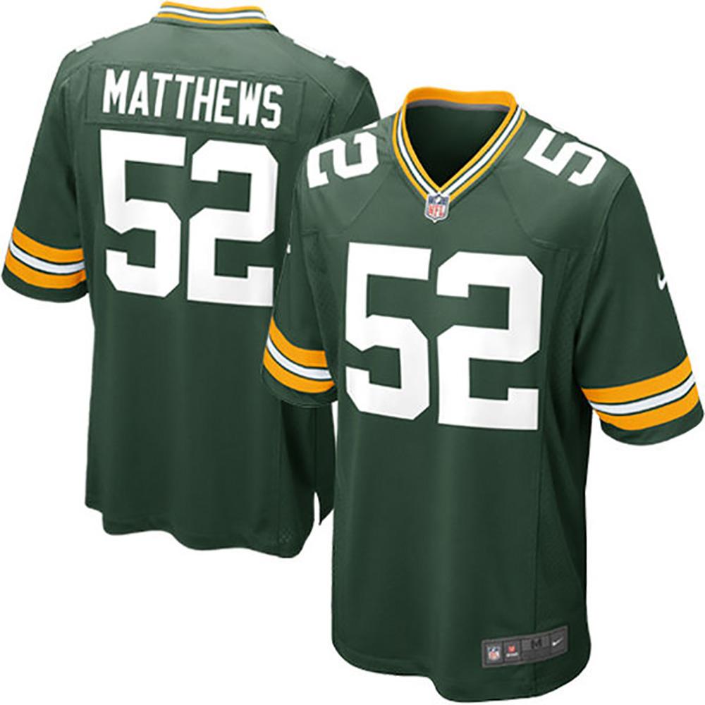 NFL パッカーズ クレイ・マシューズ ゲーム ユニフォーム ナイキ/Nike グリーン 468953-325