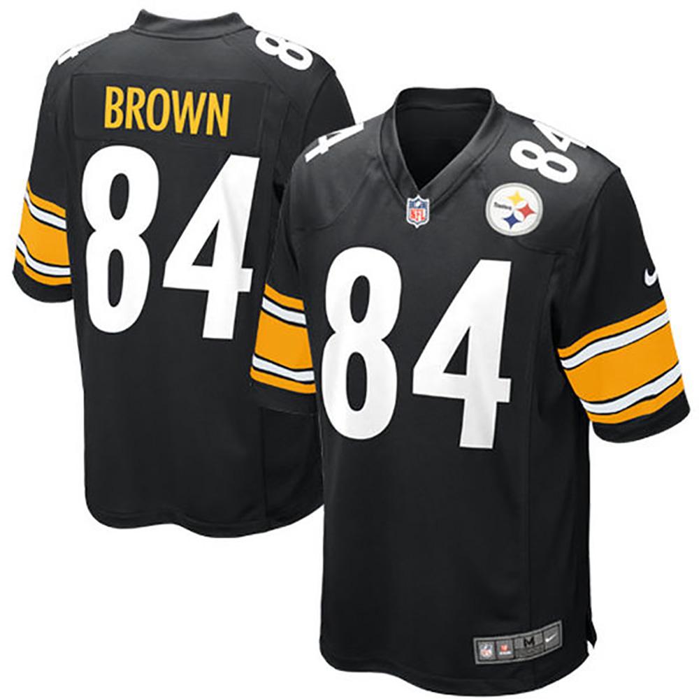 NFL スティーラーズ アントニオ・ブラウン ゲーム ユニフォーム ナイキ/Nike ブラック 468972-018