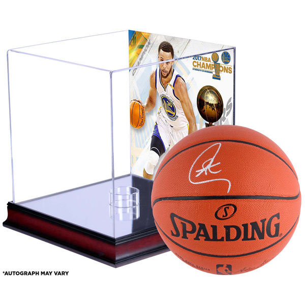 有訂購的NBA戰士斯蒂芬·鉀親筆簽名的2017最後勝利紀念籃球斯波爾丁/SPALDING