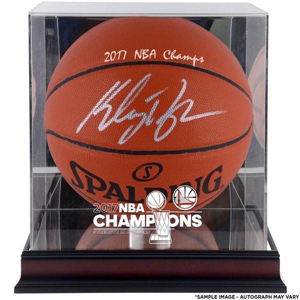 有訂購的NBA戰士Cray·湯普森親筆簽名的2017最後勝利紀念籃球斯波爾丁/SPALDING