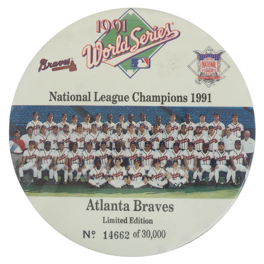 MLB ブレーブス ワールドシリーズ 1991 バッジスタンド