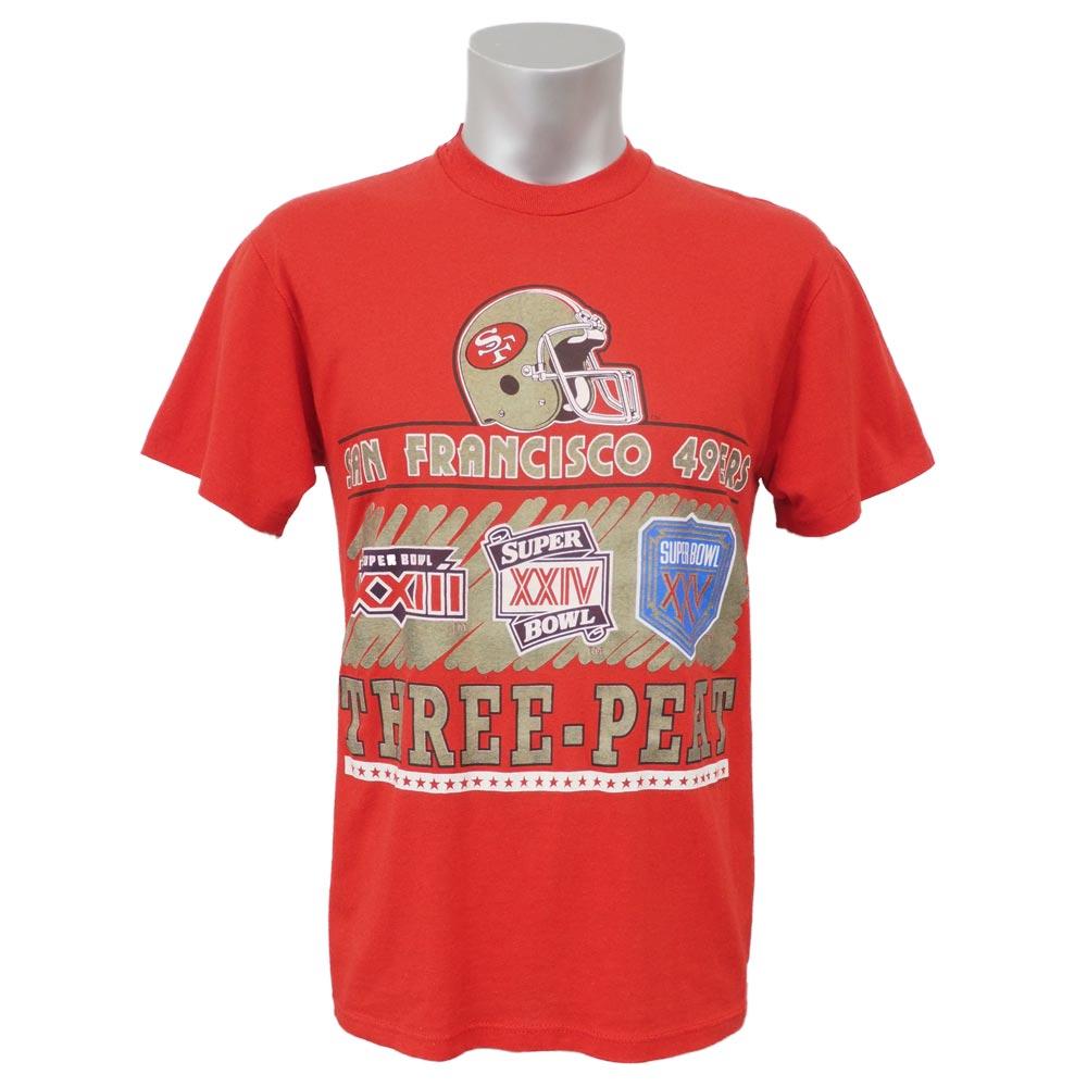 NFL 49ers スーパーボウル スリーピート Tシャツ ロゴ7/Logo7 スカーレット レアアイテム