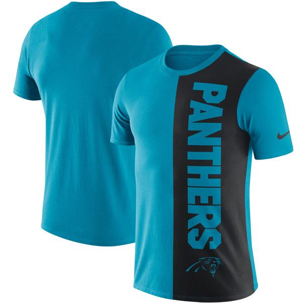 NFL パンサーズ コイン フリップ Tri-Blend Tシャツ ナイキ/Nike ブルー/ブラック