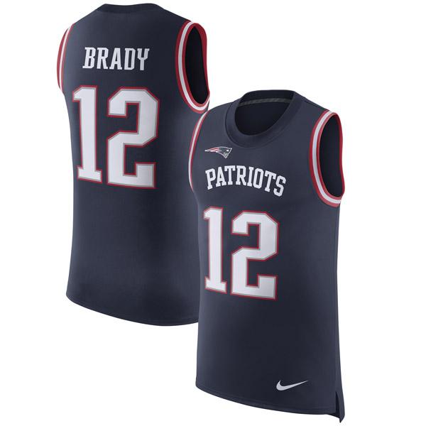 NFL ペイトリオッツ トム・ブレイディ カラーラッシュ ネーム&ナンバー タンクトップ ナイキ/Nike ネイビー