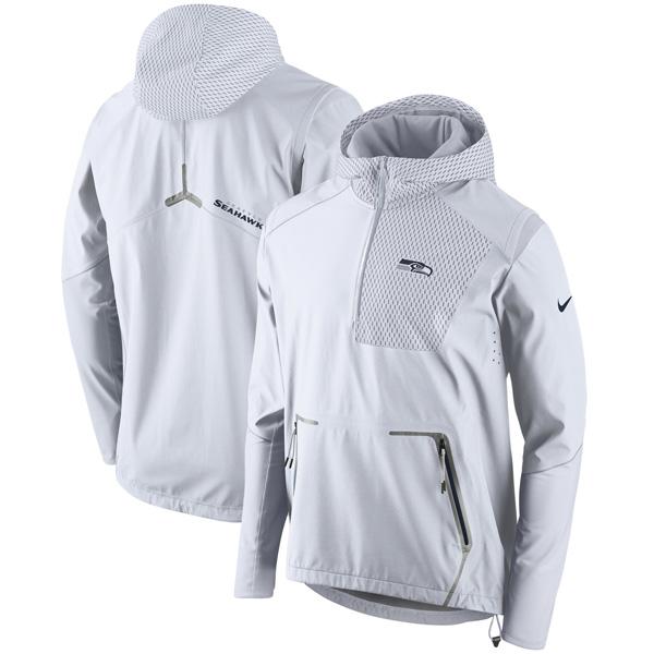 NFL シーホークス チャンプ ドライブ ヴェイパー スピード ハーフジップ ジャケット ナイキ/Nike ホワイト