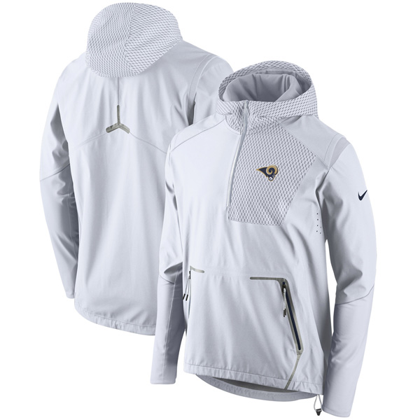 お取り寄せ NFL ラムズ チャンプ ドライブ ヴェイパー スピード ハーフジップ ジャケット ナイキ/Nike ホワイト