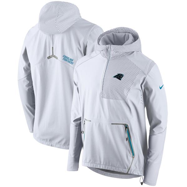 お取り寄せ NFL パンサーズ チャンプ ドライブ ヴェイパー スピード ハーフジップ ジャケット ナイキ/Nike ホワイト