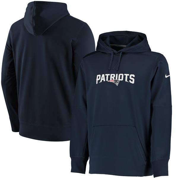 お取り寄せ NFL ペイトリオッツ サーキット ワードマーク エッセンシャル パフォーマンス パーカー ナイキ/Nike ネイビー