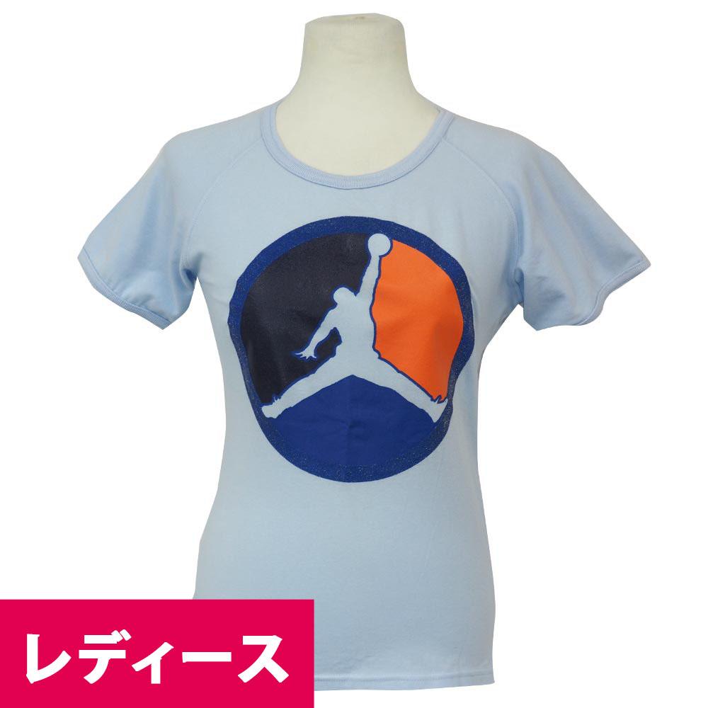 サークルのジャンプマンロゴがレア ジョーダン JORDAN レディース サーキュラー Tシャツ ライトブルー 売店 レアアイテム メーカー公式ショップ ロゴ
