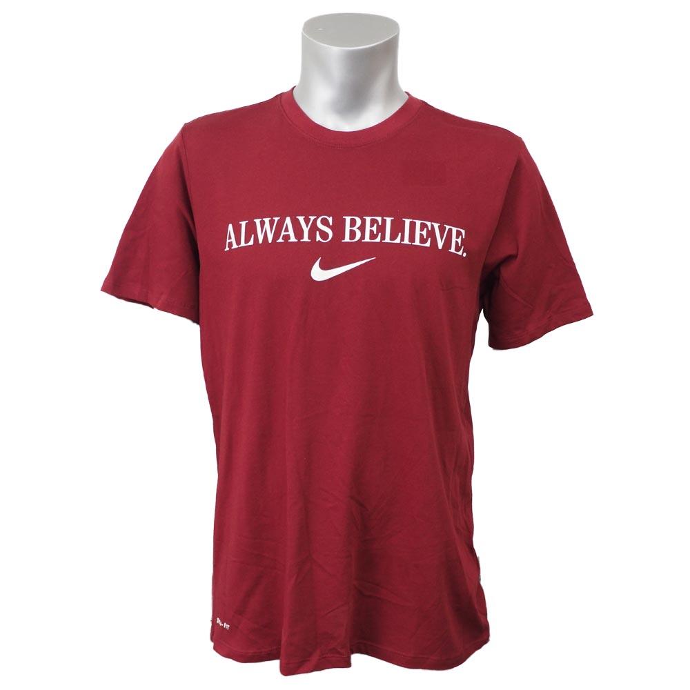 ナイキ レブロン/Nike LEBRON レブロン・ジェイムス オールウェイズ ビリーブ Tシャツ ナイキ/Nike Maroon/White 36110 レアアイテム