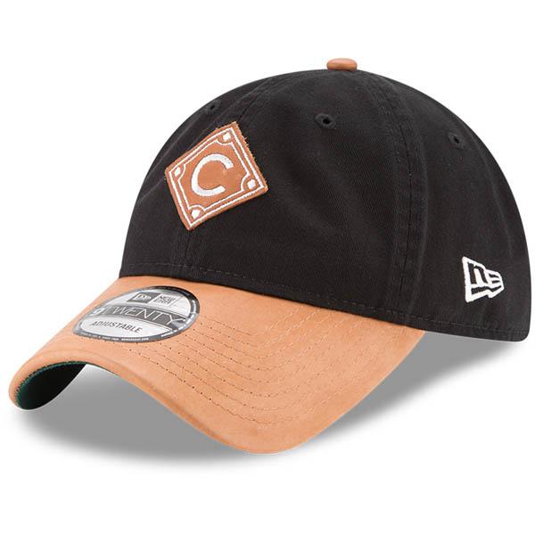 お取り寄せ MLB カブス Wilson コラボレーション 9TWENTY アジャスタブル キャップ/帽子 ニューエラ/New Era ブラック/ナチュラル