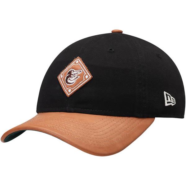 お取り寄せ MLB オリオールズ Wilson コラボレーション 9TWENTY アジャスタブル キャップ/帽子 ニューエラ/New Era ブラック/ナチュラル